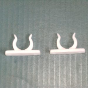 Hold Down Clips for Roller Blind 20mm Round Bottom Rail pair