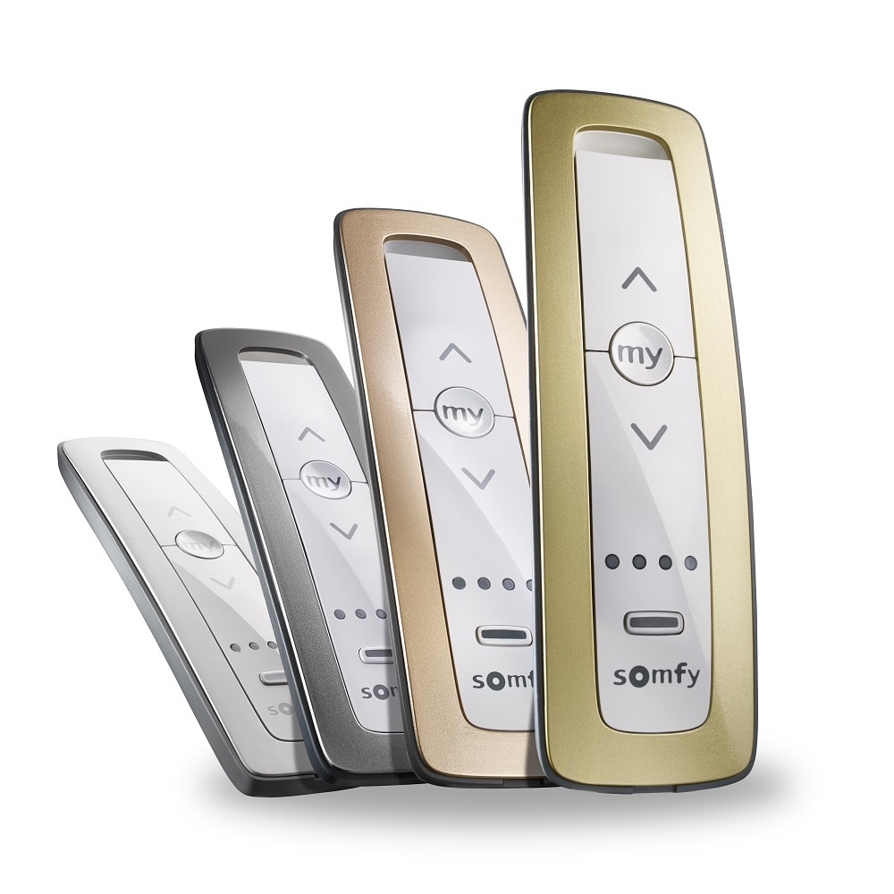 Five channel radio remote. Allows for the individual or group control of RTS Colour Available Pure, Silver, Rose Gold and Gold